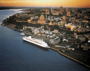 Porto de Québec, no Canadá