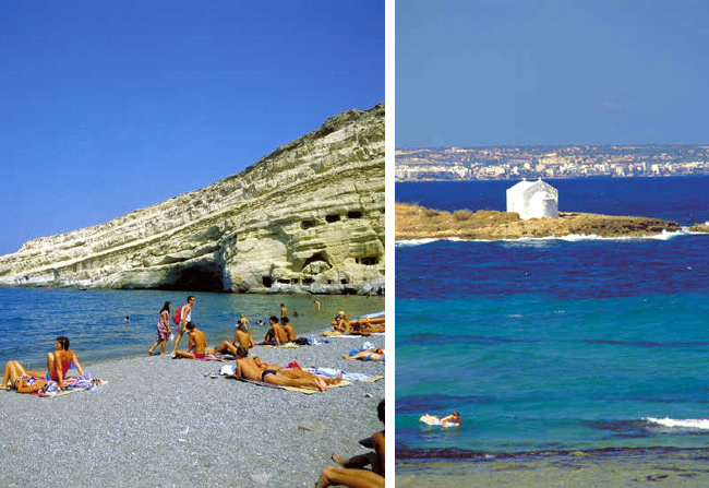 Praia em Rodes, Grécia
