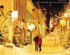 Québec sob a neve, no Canadá