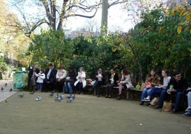 Refeição no jardin de Cluny