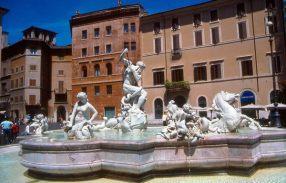 Roma, Itália, a famosa piazza Navona