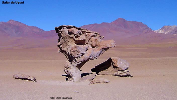 Salar de Uyuni, curiosas formações rochosas