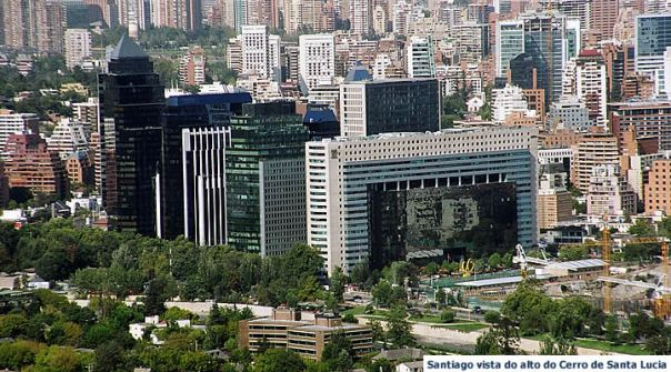 Santiago do Chile, vista panorâmica