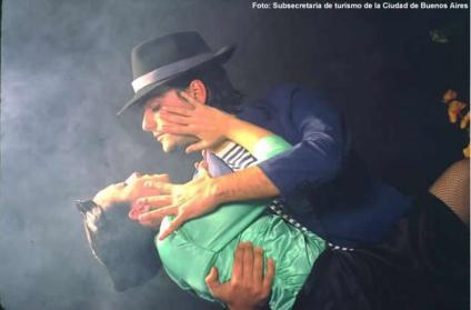 Apresentação de de tango em Buenos Aires