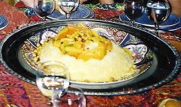 Tajisnhe, prato típico marroquino, foto de Melina Castro