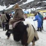 Yaqui em estação de esqui, norte da Índia