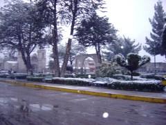 Chivay sob a neve, Valle del Colca