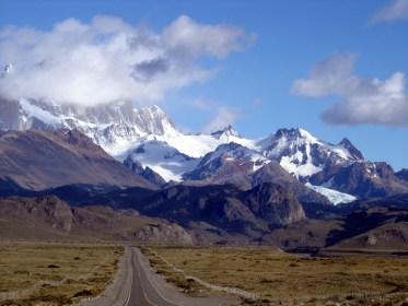 Os Andes vistos de El Chaltén, Patagonia, Argentina