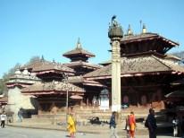 Katmandu, Nepal, templos junto do antigo palácio real