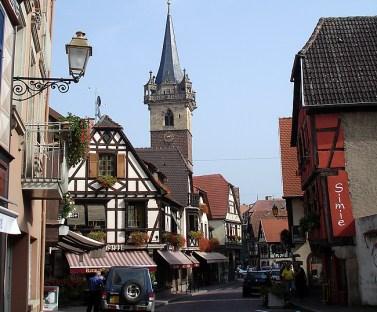 Kayserberg, na Alsácia, França