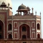 O estilo mogol no Red Fort em Delhi
