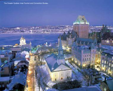 Québec, Canadá, paisagem de inverno