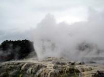 Gêiser em Rotorua, Ilha do Norte, Nova Zelândia