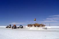 Salar de Uyuni, em pleno altiplano, Bolívia