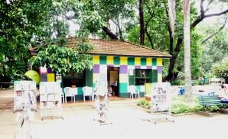 Centro de leitura no Parque Ibirapuera