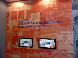 Memorial da Repressão em São Paulo, instalada no antigo DOPS