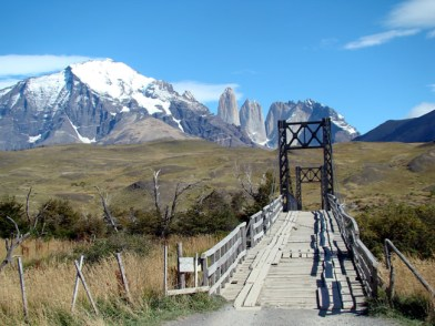 Ponte em Torres del Paine, no Chile
