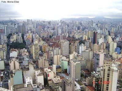 São Paulo, SP, vista aérea do centro novo