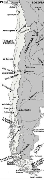 Mapa do Chile completo