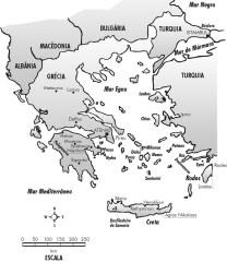 Mapa da Grécia