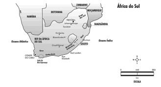 Mapa da África do Sul
