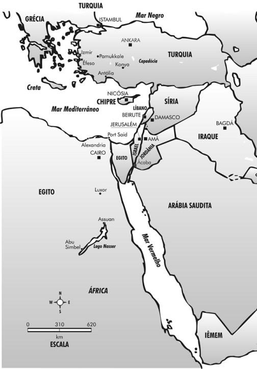 Mapa do Oriente Médio