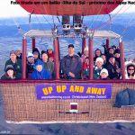 Grupo no balão na Nova Zelândia