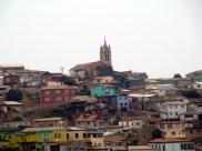 Colina em Valparaíso, no Chile