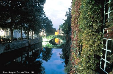 Canal em Bruges, Bélgica