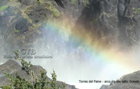Arco-iris em Torres del Paine
