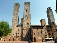 As torres gêmeas de San Gimignano, Itália