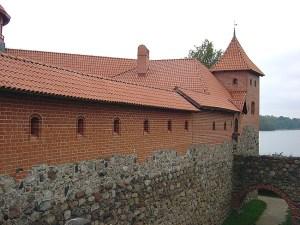 Castelo na cidade de Trakai, Lituânia