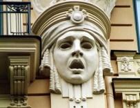 Detalhe Art Deco em prédio em Riga, Letônia