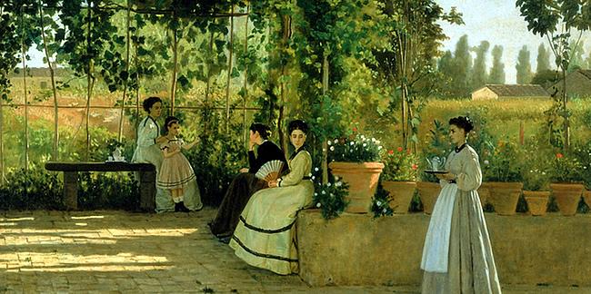O estilo de pintura dos macchaioli, em Florença