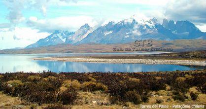 Paisagem em Torres del Paine, no Chile