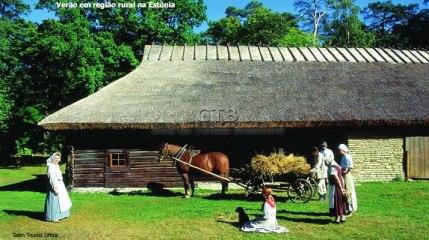 Região rural na Estônia