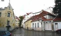 Rua em Tallinn, Estônia