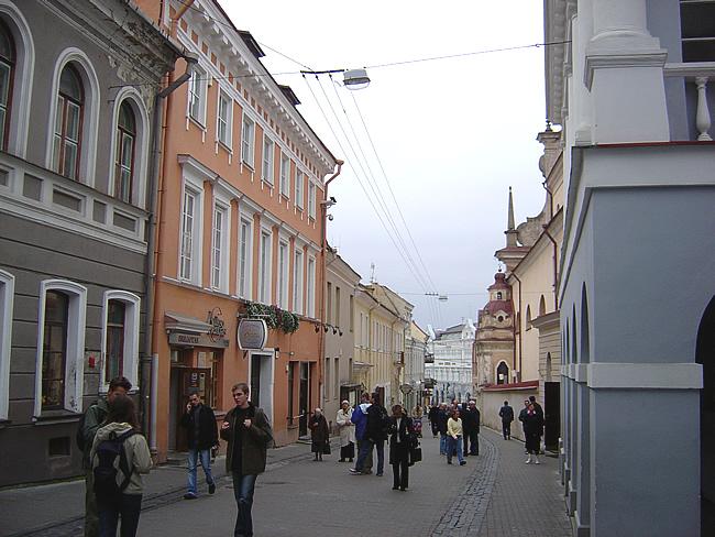 Rua em Vilnius, Lituânia