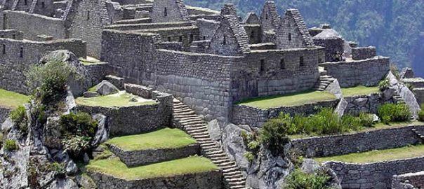 Construções incas em Machu Picchu, no Peru
