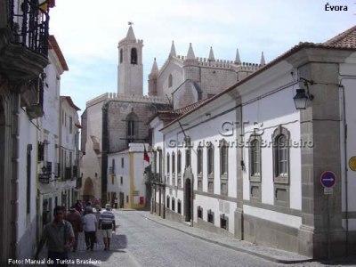Rua em Évora, no Alentejo