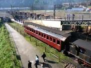 Vagões da velha ferrovia