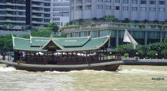 Barco de tansporte de passageiros em Bagkok