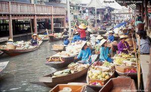 Mercado Flutuante, arredores de Bangkok