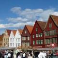 Bergen, Noruega, banca de alimentação no porto