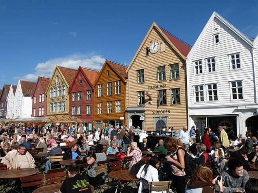Bergen, Noruega, região do porto