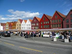 Bergen, Noruega, verão