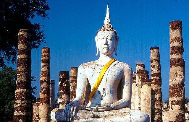 Buda em Ayuthaia, Tailândia
