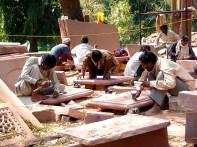 elhi, restauradores na tumba de Humayun