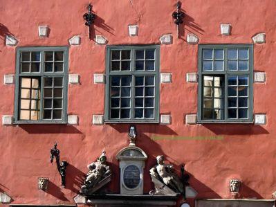 Fachada no Centro Histórico de Estocolmo