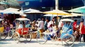 Rckshaws em Bangkok